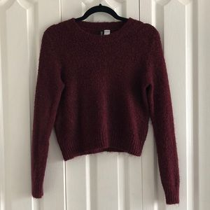 Fuzzy long-sleeved top